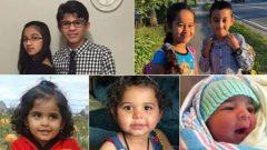 الأطفال السبعة لعائلة برهو (ابتداءً من الأعلى إلى اليسار ): رولا (12 سنة)، أحمد (14 سنة)، عُلا (8 سنوات)، محمد (9 سنوات)، هالة (4 سنوات)، رنى (3 سنوات) وعبد الله (3 أشهر) Facebook / Heart Society