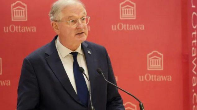 رئيس جامعة أوتاوا جاك فريمون أكّد على أهميّة التوفيق بين حريّة التعبير والحقّ في الكرامة /Francis Ferland/CBC/