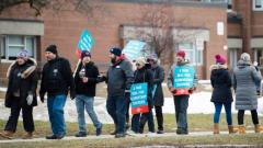 اتّحاد مدرّسي المرحلة البتدائيّة أعلنوا الإضراب ليوم واحد في أونتاريو في إطار الإضراب الدوري لاتّحادات المدرّسين في المقاطعة/Nathan Denette/PC