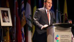 وزير الهجرة الكندي ماركو منديتشينو يتحدّث في حفل قسم الجنسيّة في متحف الهجرة في هاليفاكس في 15-01-2020/Riley Smith/CP