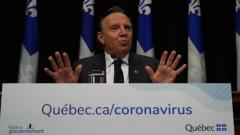 فرانسوا لوغو رئيس حكومة كيبيك أعلن سلسلة إضافيّة من الإجرلءات المتشدّدة لمواجهة فيروس كورونا المستجدّ/Sylvain Roy Roussell/Radio-Canada