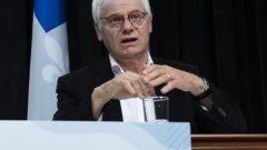 ريشار ماسيه كبير المستشارين الطبيّين لدى وكالة الصحّة العامّة الكيبيكيّة قدّم توقّعاته حول تطوّر جائحة كوفيد-19 في المقاطعة/Jacques Boissinot/CP