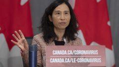 د. تيريزا تام مديرة وكالة الصحّة العامّة تأمل في أن تبقى الإصابات و حالات الوفاة منخفضة في كندا /Adrian Wyld/CP