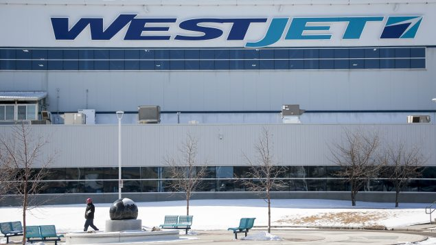 WestJet head office after the company laid off nearly 7000 employees, in Calgary, Alta., Wednesday, March 25, 2020, amid a worldwide COVID-19 flu pandemic. THE CANADIAN PRESS/Jeff McIntosh
