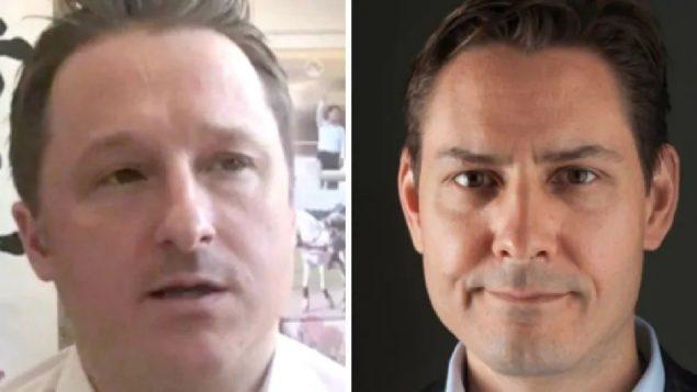 الكنديّان المعتقلان في الصين مايكل كوفريغ (إلى اليمين) ومايكل سبافور/International Crisis Group/AP/CP/