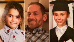 من اليمين إلى اليسار : نورا كاربنتيه ، 11 سنة، والد الفتاتين مارتن ورومي، 6 سنوات - Radio Canada