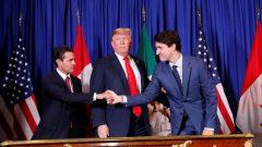 تم التوقيع على الاتفاق الجديد في 30 نوفمبر تشرين الثاني 2018 في بوينس آيرس في الأرجنتين، قبل افتتاح قمة مجموعة العشرين مباشرة ، بحضور دونالد ترامب ورئيس الحكومة الكندية جوستان ترودو والرئيس المكسيكي السابق إنريكي بينيا نييتو - Reuters / Kevin Lamarque