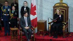 جولي باييت، حاكمة كندا العامة، تُلقي خطاب العرش في ديسمبر كانون الأول 2019 - The Canadian Press / Chris Wattie
