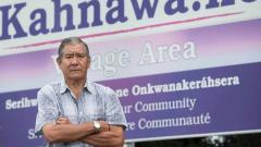 جو نورتن زعيم محميّة كاناواكي للسكّان الأصليّين في 18-09-2018/(Graham Hughes/CP