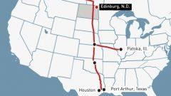 مسار أنبوب كيستون إكس إل لنقل النفط الخام من ألبرتا نحو مصافي النفط في جنوب الولايات المتّحدة/Alberta Government