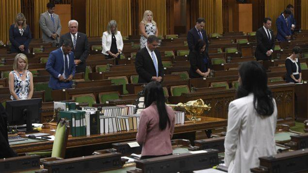 مجلس العموم الكندي في جلسة يوم 12 أغسطس آب 2020 قبل تعليق أشغاله - The Canadian Press / Adrian Wyld