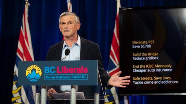 زعيم الحزب الليبرالي في بريتيش كولومبيا، أندرو ويلكينسون - 07.10.2020 - The Canadian Press / Darryl Dyck