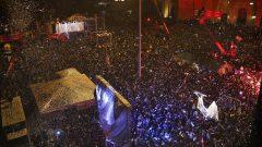 مظاهرة حاشدة في ساحة الشهداء في بيروت في 01-01-2020/ Bilal Hussein/AP