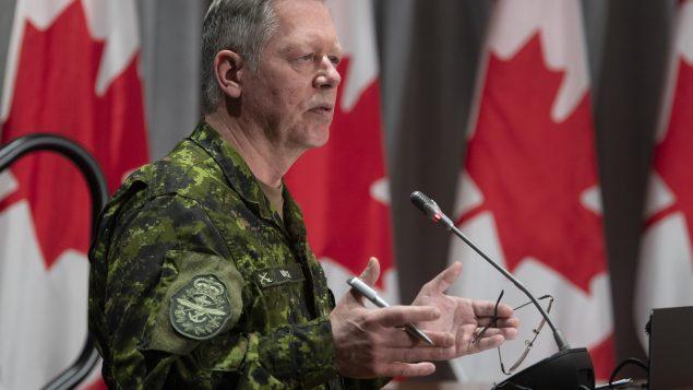 الجنرال جوناتان فانس رئيس هيئة الأركان في الجيش الكندي/Adrian Wyld/CP