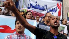مظاهرة في القاهرة للدفاع عن حرية الصحافة في مصر -10.06.2015 - Reuters / Mohamed Abd El Ghany