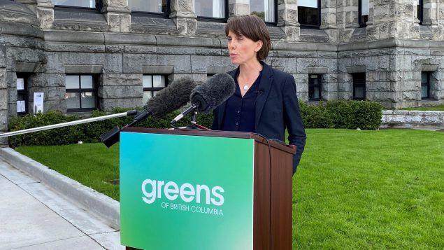 زعيمة حزب الخضر في بريتيش كولومبيا، صونيا فورستينو - 21.09.2020 - The Canadian Press / Dirk Meissner