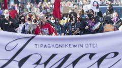 """مظاهرة في مونتريال ترفع شعار """"العدالة لجويس"""" في 03-10-2020/Graham H/CP"""