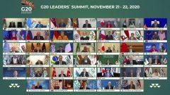 العاهل السعودي سلمان بن عبد العزيز و قادة مجموعة العشرين في القمّة الافتراضيّة التي نظّمتها المملكة /G20 Riyadh Summit via AP