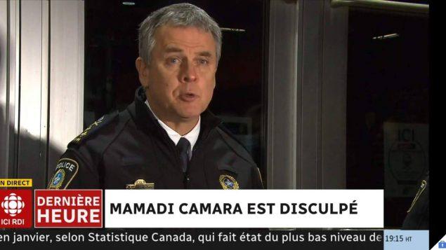 سيلفان كارون، مدير دائرة شرطة مدينة مونتريال - Photo : Radio-Canada