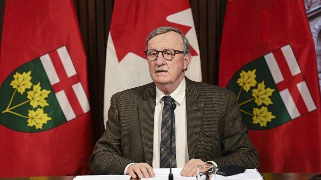 د. دافيد وليامز رئيس الخدمات الطبيّة في مقاطعة أونتاريو /Nathan Denette/CP