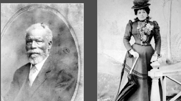 These archive images show an African American settler to Canada and his daughter, born in B.C., in the 1880s. (BC Archives)