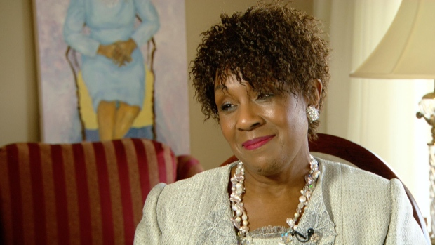 Mayann Francis, Nova Scotia's first black lieutenant-governor, issued the pardon for Viola Desmond in 2010. (CBC)