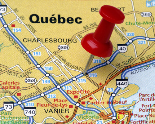 Which province of Canada has French as its official language?