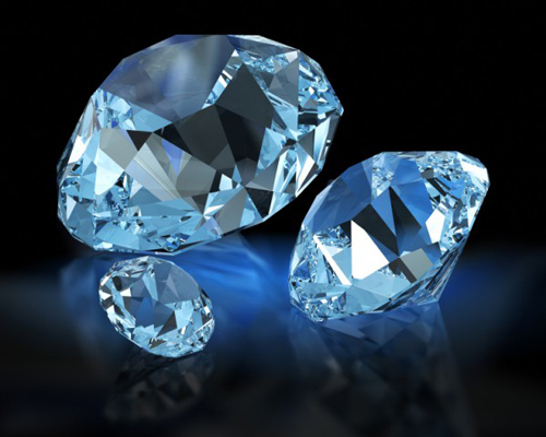 What country is the third largest producer of diamonds in the world?