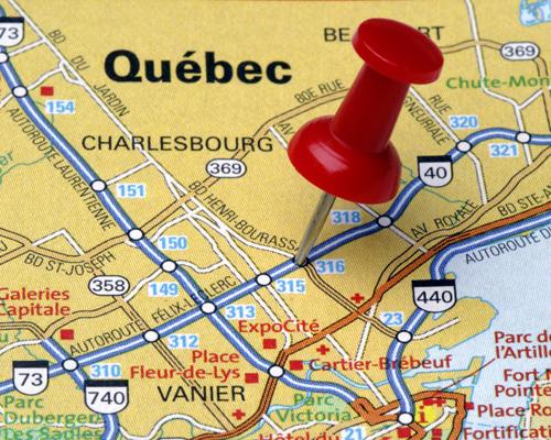 加拿大哪个省的官方语言是法语?