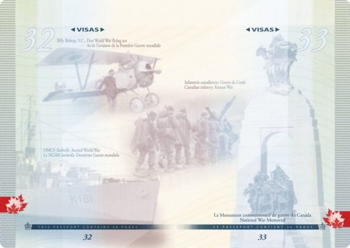 Images of Canadians in different wars. (Photo: Passport Canada)