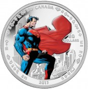 One of the several  fine silver Superman collector coins, this one with a face value of $20