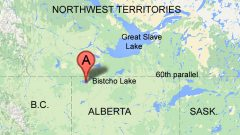 The research is taking place in nort-western Alberta near Bitscho Lake