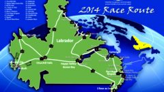 Original route through Labrador, 3,300 km.through mostly uninhabited wilderness. Extreme weather has forced a route change this year. (Cain's Quest 2014)