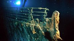 Bow of the Titanic kilmoeters below the surface. Scientist say bacterial action is eating away at the iron and the ship will collapse within a couple of decades, eventually becoming mere rust on the ocean floor (Emory Kristoff) CLIKC to ENLARGE