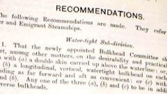 Mersey report into sinking made safety recommendations many of which are still in effect (Halifax Maritime Musuem of the Atlantic) (CLICK to ENLARGE)