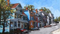 """Garrison Hill"" a street in St John's Newfoundland Garrison Hill 60cm x 76cm oil on canvas CLICK to ENLARGE"