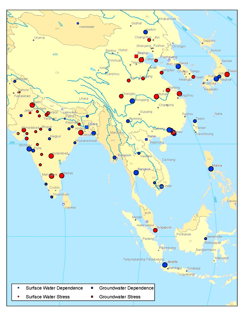 Worlds first global city water usage map although not included in this particular study this similar map shows cities sources of water gumiabroncs Gallery