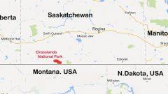 Grasslands National Park in southern Saskatchewan (google) CLICK to enlarge