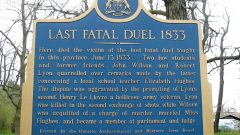 Ontario official plaque near the sight of 1833 duel (Wiki) CLICK to enlarge