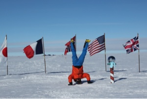 Reaching the Geographic South Pole on Christmas Eve.