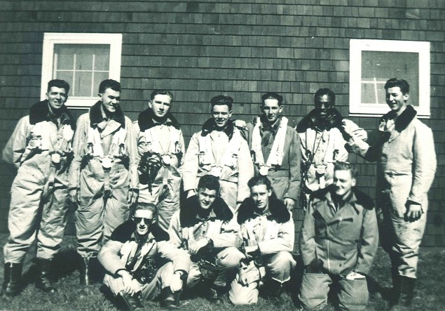 Lincoln Alexander, back row, second from right, in a Second World War-era photo. PHOTO: Courtesy Royal Canadian Air Force Association
