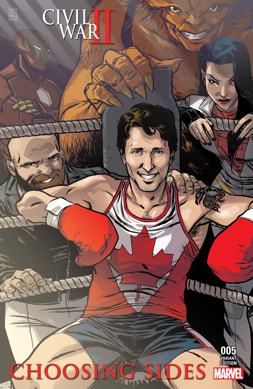 Award-winning Toronto-based cartoonist Ramon Perez says he was trying to keep the likeness of Justin Trudeau as accurate as possible and have his personality shine forth at the same time. Ramon Perez/Marvel