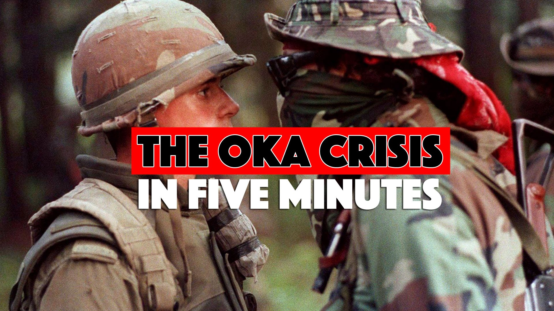 oka crisis The dates given are from the beginning of the peace camp at oka, to the  dismantling of the peace village in winnipeg the oka crisis itself began on  march.