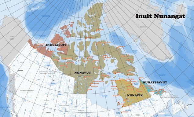 Map of Inuit regions of Canada. (Government of Canada)