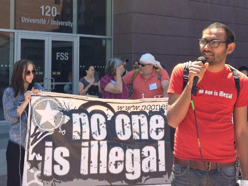 Syed Hussan is a campaigner with No One Is Illegal migrants' rights advocacy group.