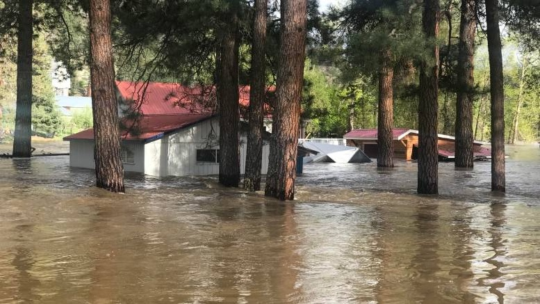 Over 1100 evacuated due to flooding in BC's Boundary region
