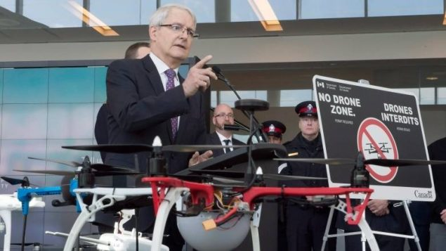 Transport minister marc garneau march 2017, new rules for drone flyers