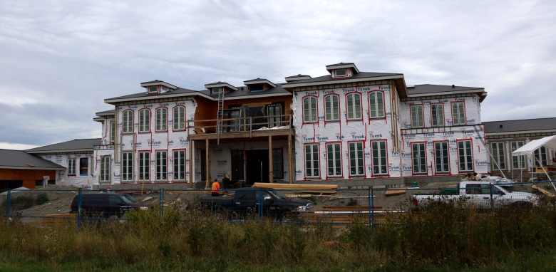 Huge home under construction in Richmond