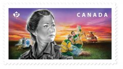 On Monday Canada Post revealed the first in a series of five new stamps honouring first responders in this country, The first stamp honours paramedics. (Canada Post)