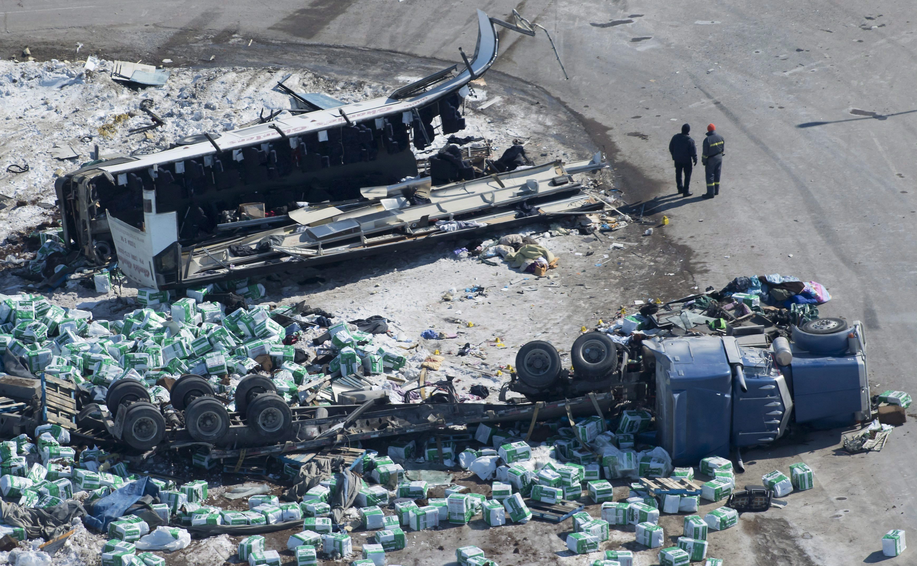 Truck driver in Broncos crash sentenced to eight years